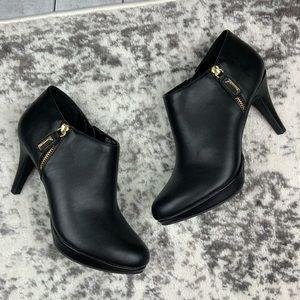 Liz Claiborne Eagan zippered vegan leather booties